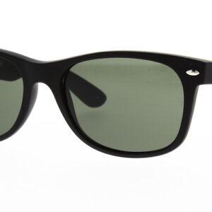 Ray Ban Sunglasses New Wayfarer Black Rubber RB2132 622 55