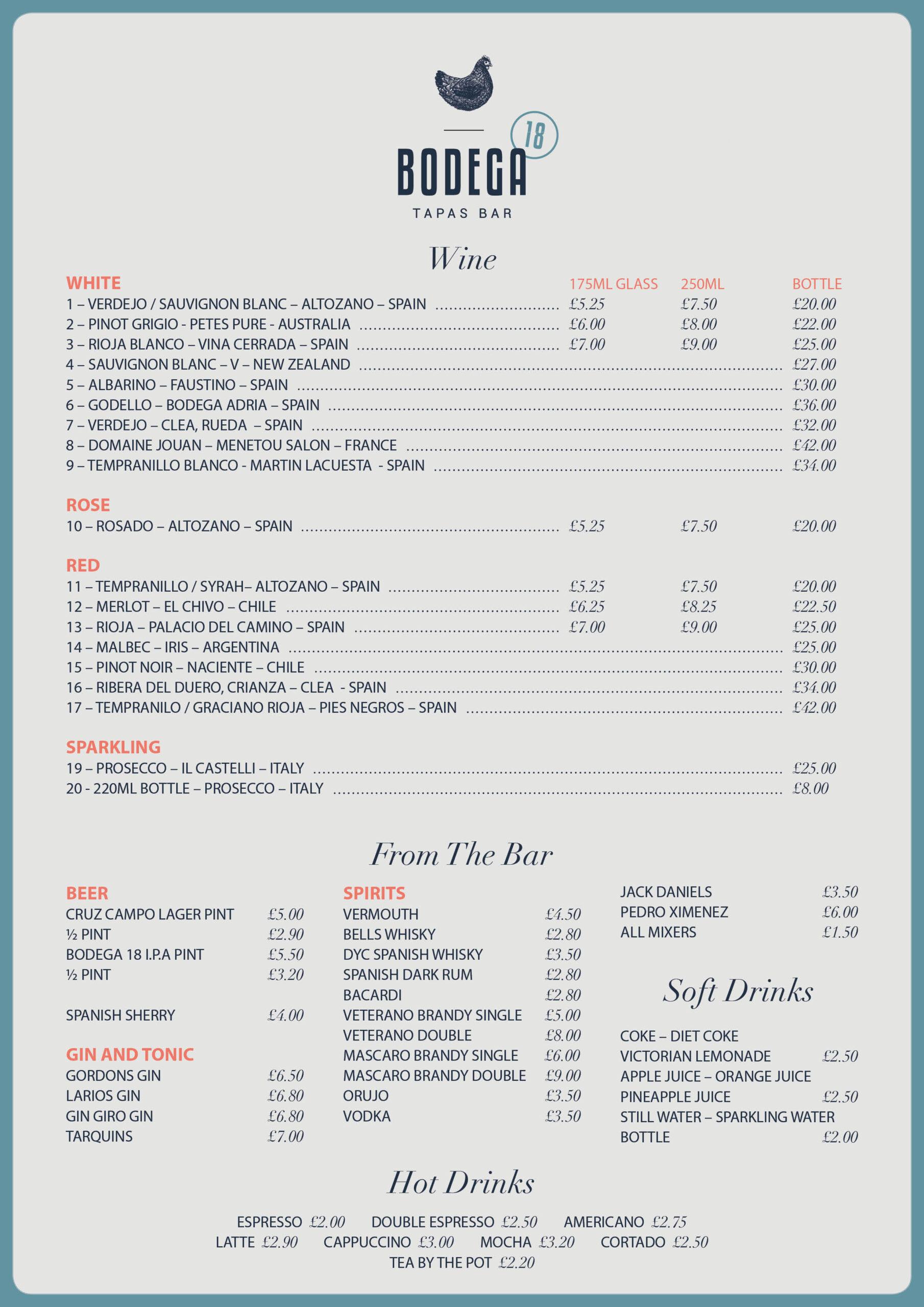 Bodega 18 Wine List v2