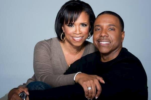 A photo of Creflo Dollar and wife, Taffi
