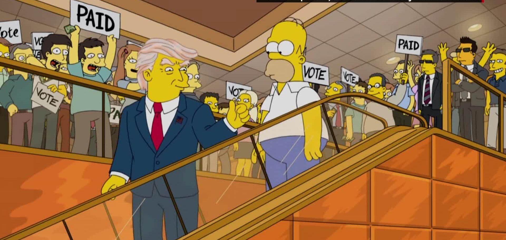 Immagine: Trump nei Simpson