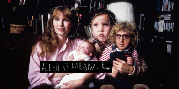 Artwork di Allen vs Farrow per Mondoserie