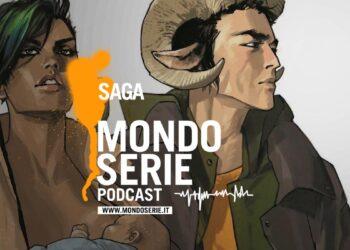 Cover di Saga fumetto podcast Mondoserie