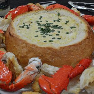 Spanner Crab and Leek Cob Loaf