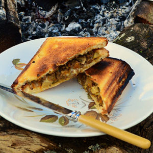 Mince and Mozzarella Cheese Jaffles