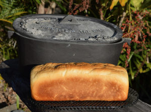 Camp oven Bread in tin