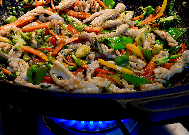 Thai- style Stir Fried Squid