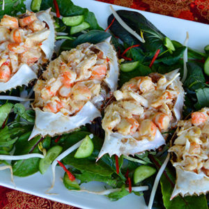 Stuffed Sand Crab Shells