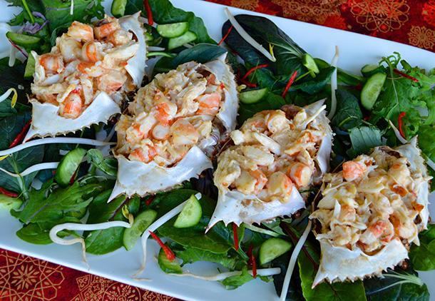 Stuffed Sand Crab Shells