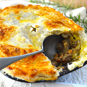 Rosemary Lamb and Kidney Pie