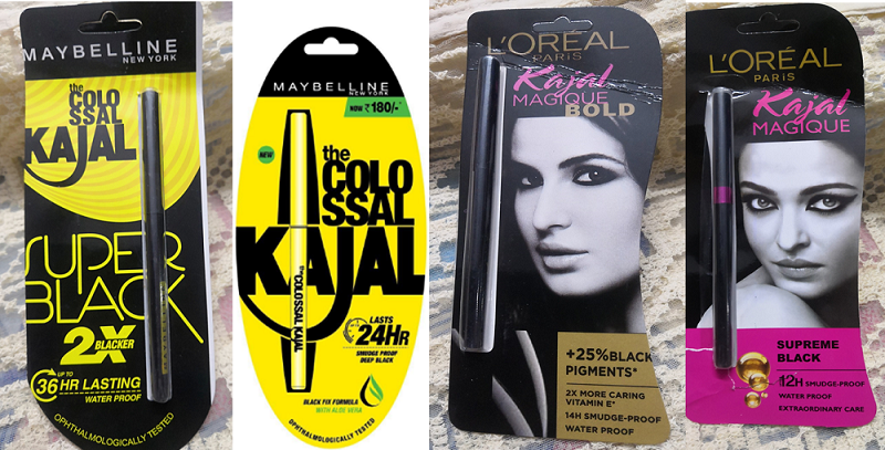 Kajal Review: Maybelline vs L'Oreal