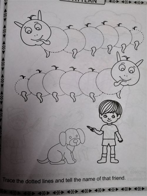 Pattern drawing for kids