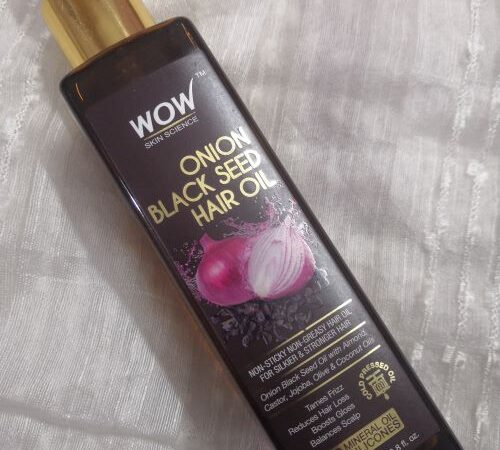 WOW Onion Black seed Hair Oil: Experience and Review