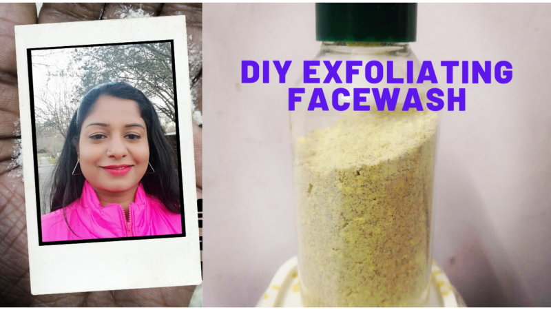 Homemade Exfoliating Face Wash for Oily-Normal Skin