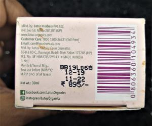 Price of Lotus organics serum+creme