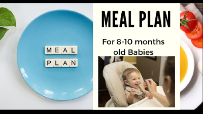 Meal Plan for 8-10 months old babies