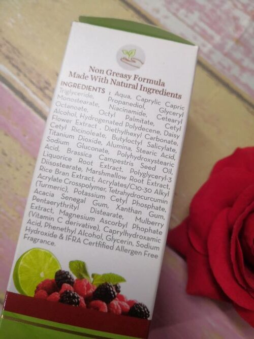 Ingredients of mamaearth bye bye blemishes cream