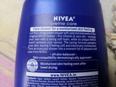 Claims of nivea body wash