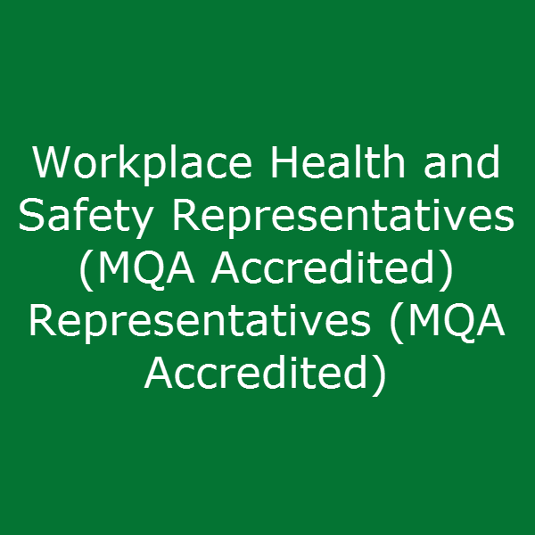Workplace Health and Safety Representatives (MQA Accredited)