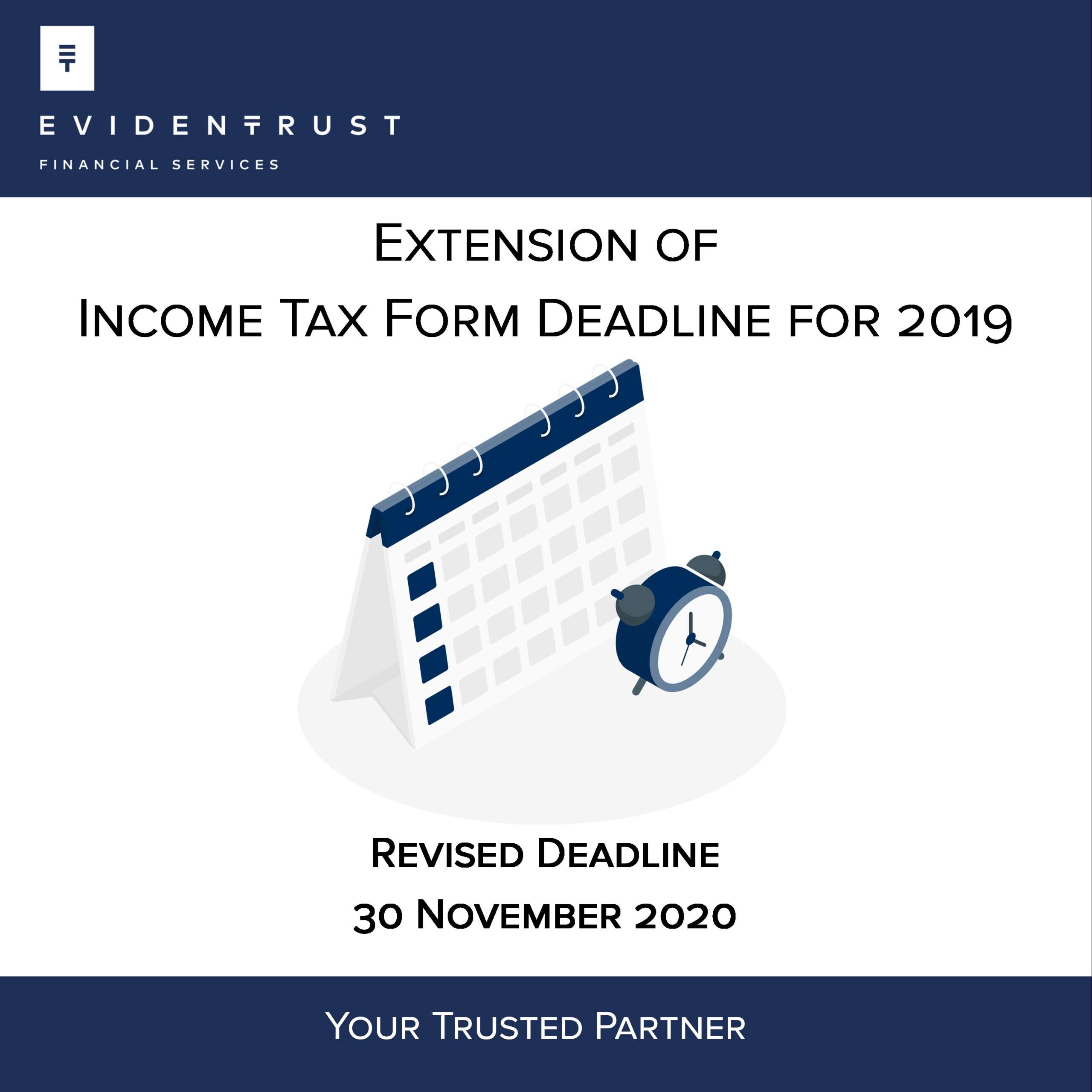 Extension of Income Tax Form Deadline for 2019