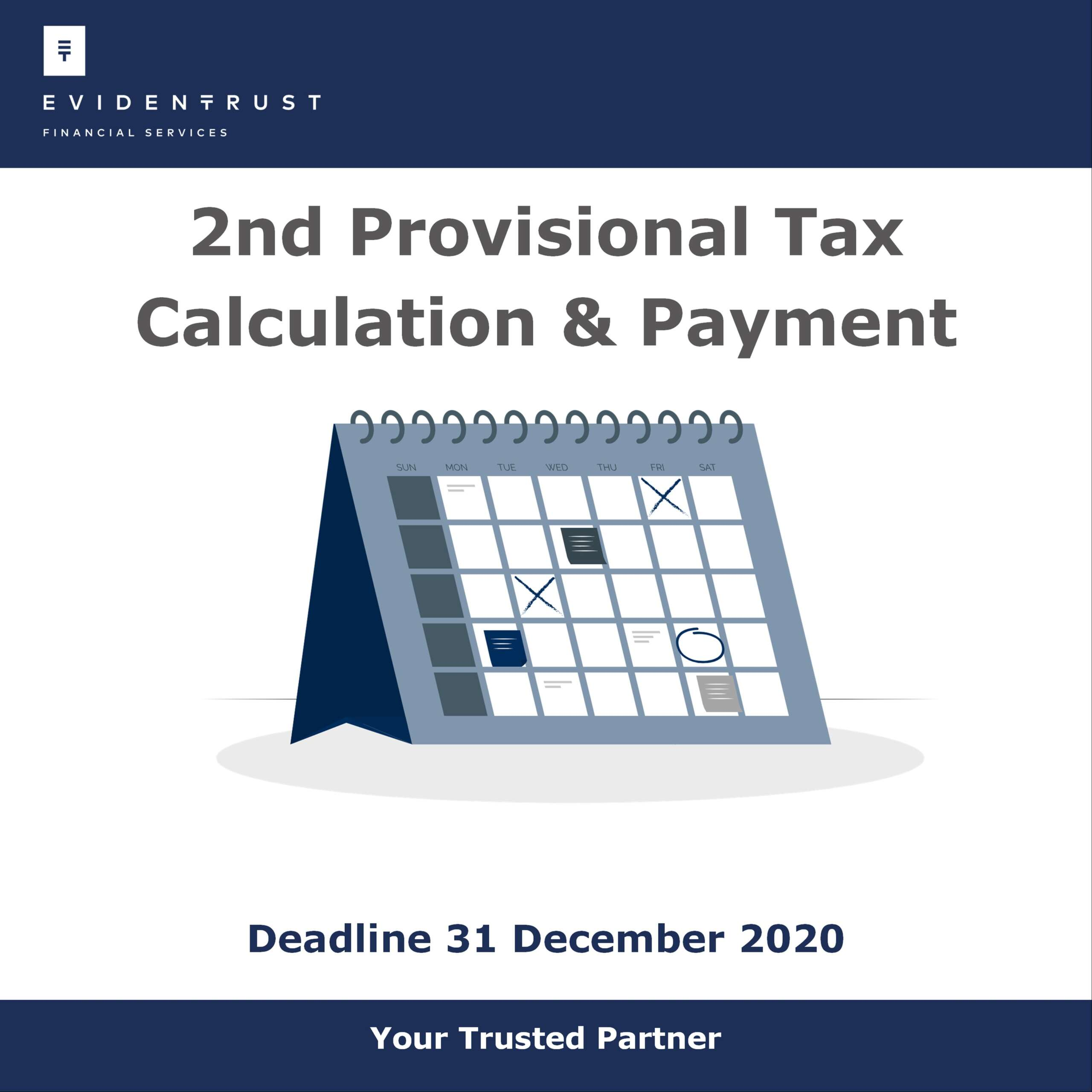 2nd Provisional Tax / Temporary Tax 2020