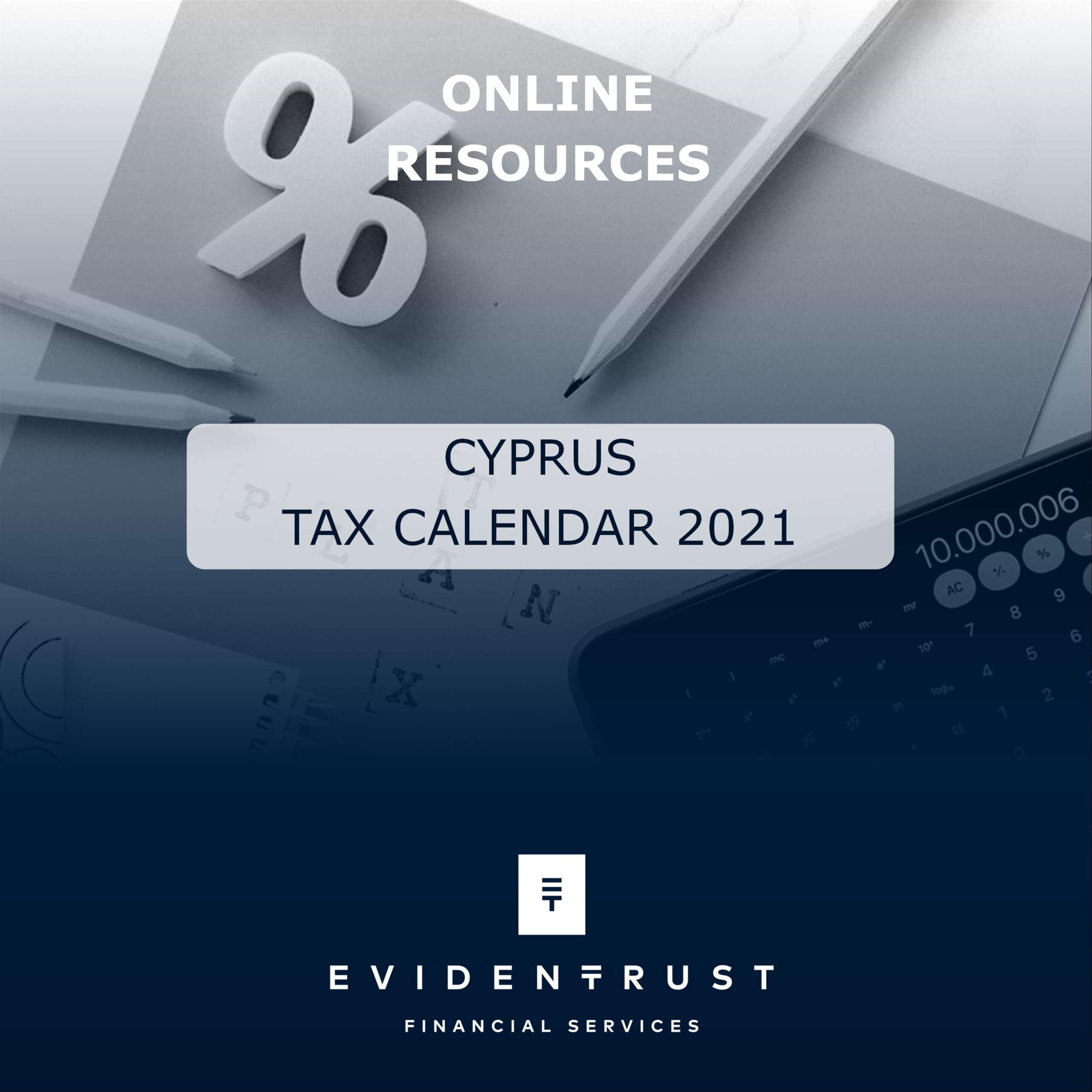 Tax Calendar 2021