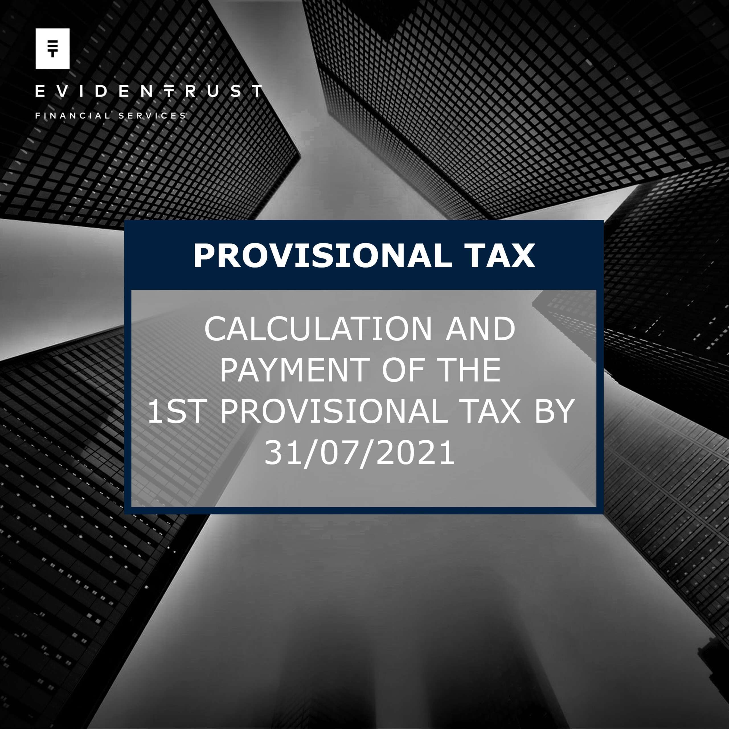 First Provisional Tax 2021