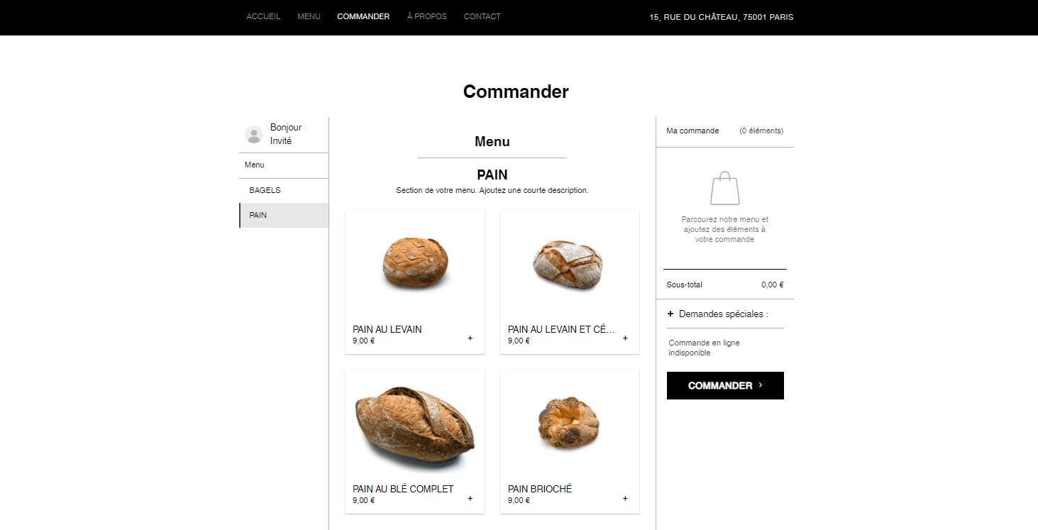 Commander du pain à la boulangerie