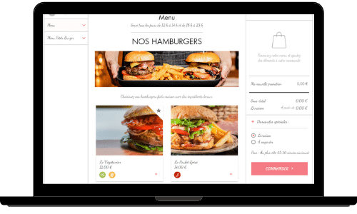 Création Site Internet Restaurant Commander