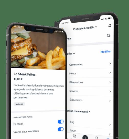 Outil communication pour site restaurant