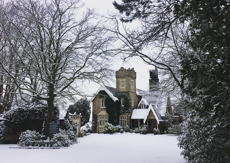 West Tower in the snow