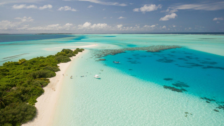 A Caribbean beach
