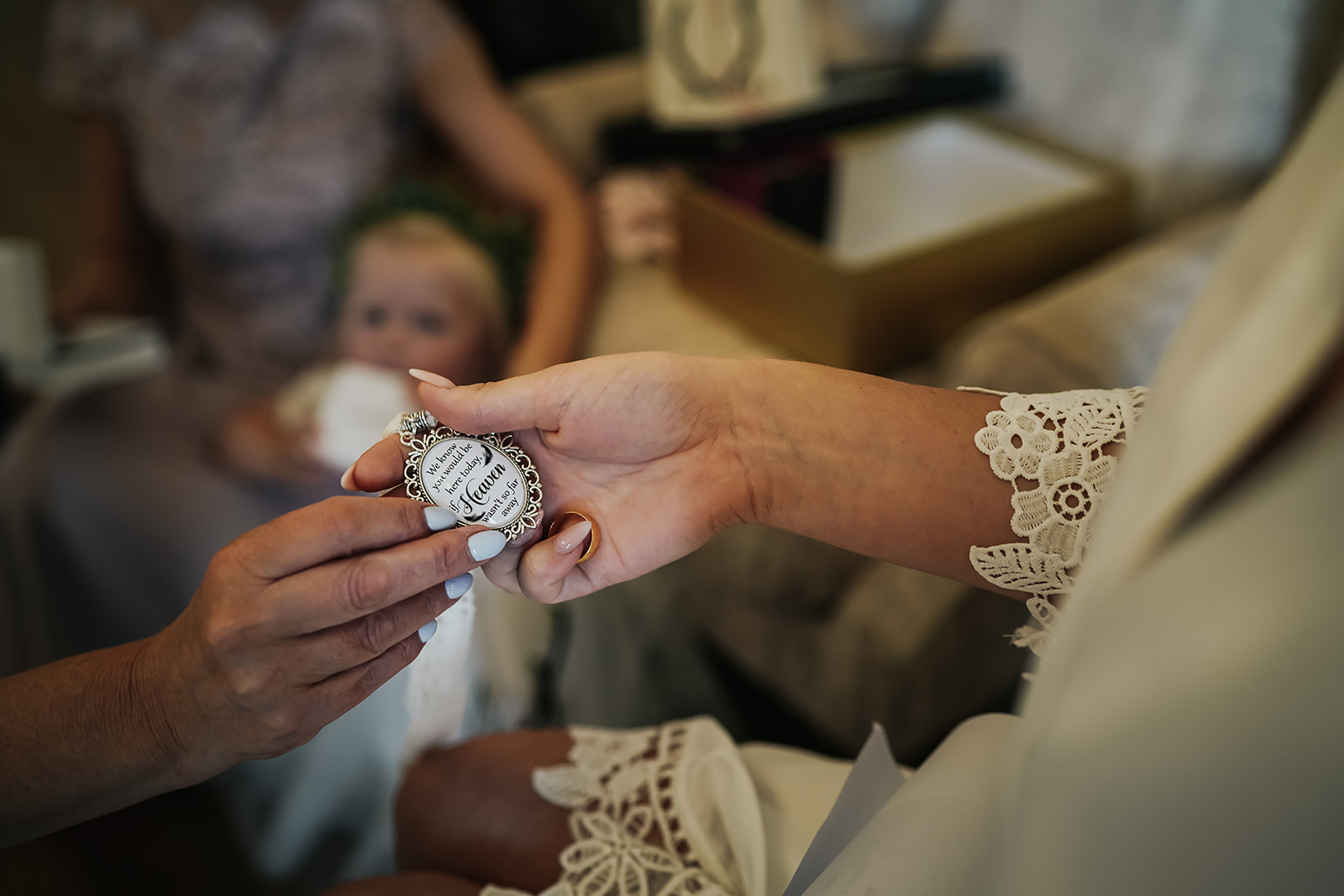 Charm given to bride on her wedding day