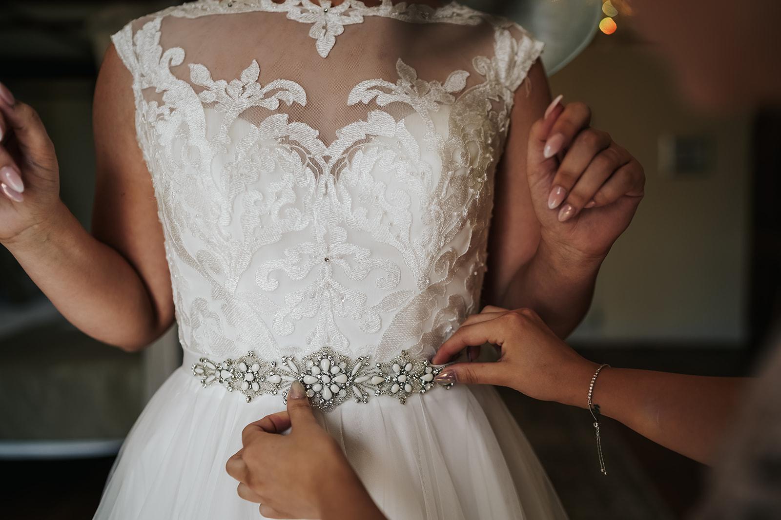 Bridal belt in bridal suite at West Tower