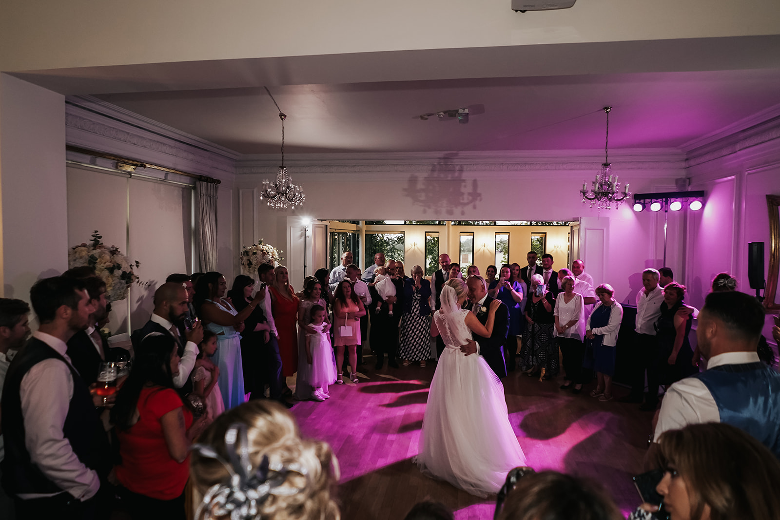 father and daughter dance at West Tower