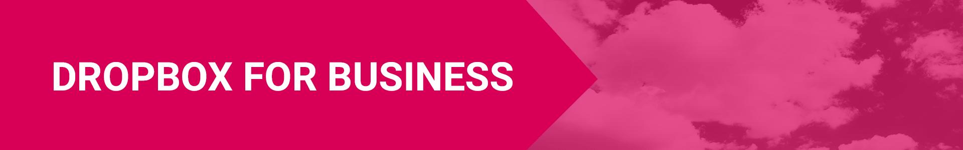 Dropbox for business header