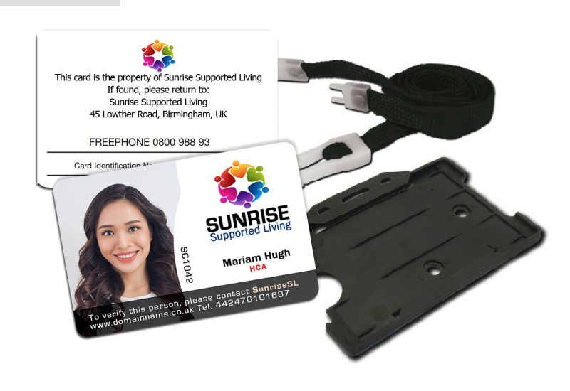 Double Sides Staff ID Card