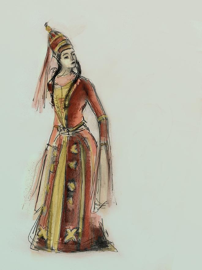 Adygheya dancer coloured by julian Williams