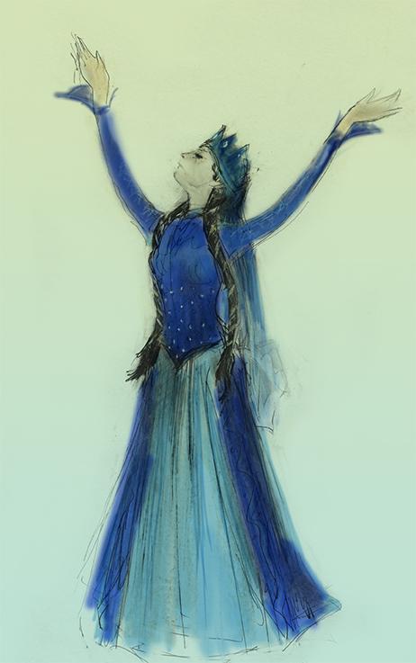 Lezginka Blue Dancer coloured by Julian Williams
