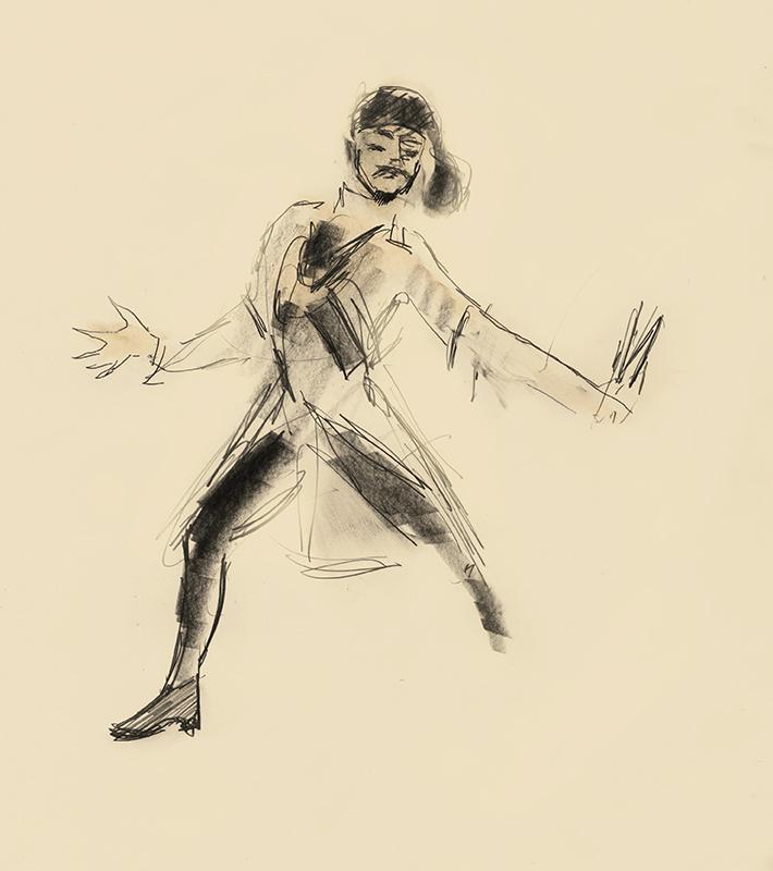 Knife Lezginka Dancer by Julian Williams