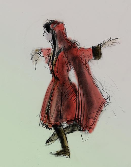 Avar Lezginka dancer by Julian Williams