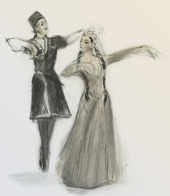 Swan and Eagles - Lezgink Dancers by Julian Williams