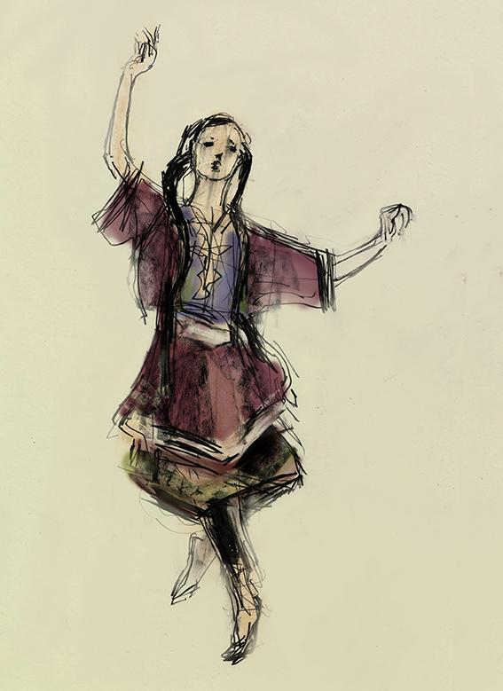 lesginka dancer from dagestan by Julian Williams