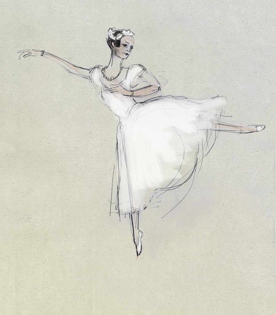 Aurelie Dupont La Sylphide by Julian Williams