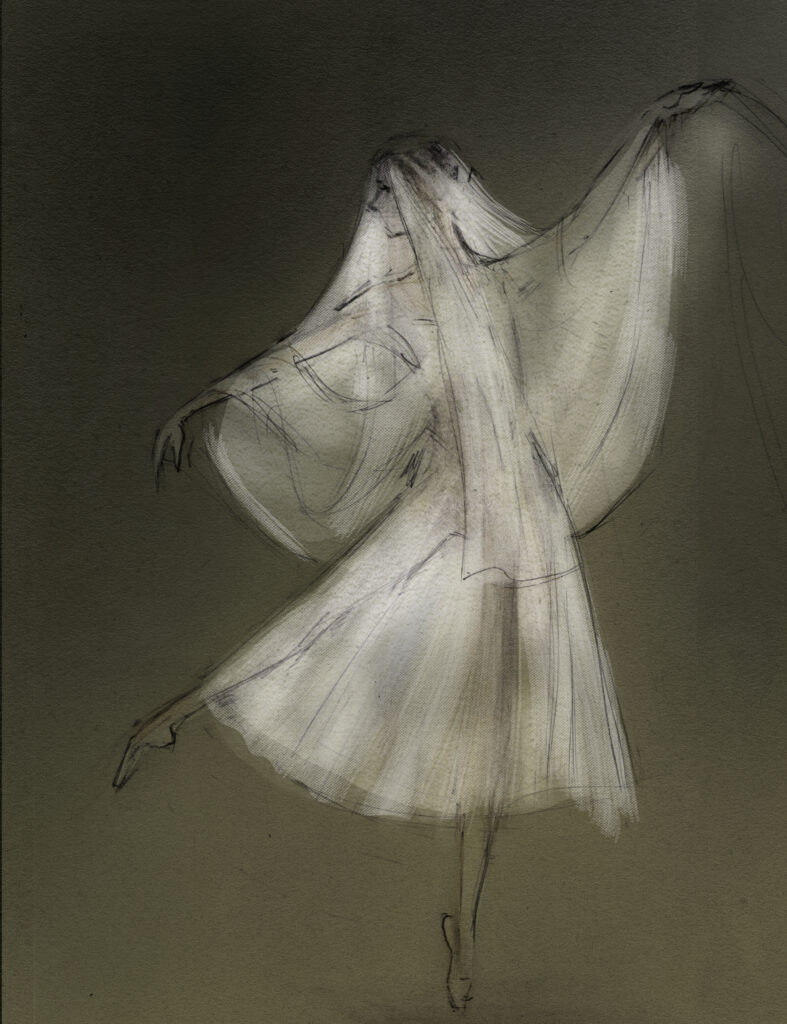 Willis Giselle, Dutch National Ballet drawing by Julian Williams