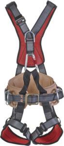 cresto 829 fall arrest harness full body linesman lineman sit leather back
