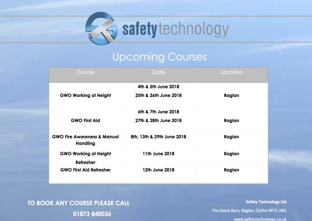 June GWO training courses