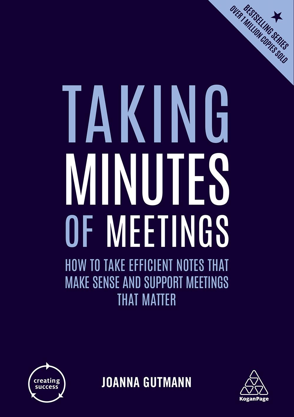 Taking Minutes of Meetings Book