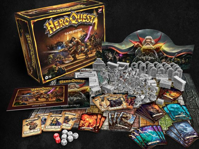 HeroQuest-Inside the box