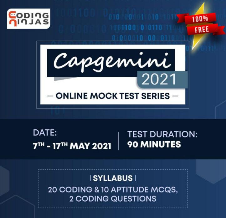 Capgemini Mock Test Series 2021