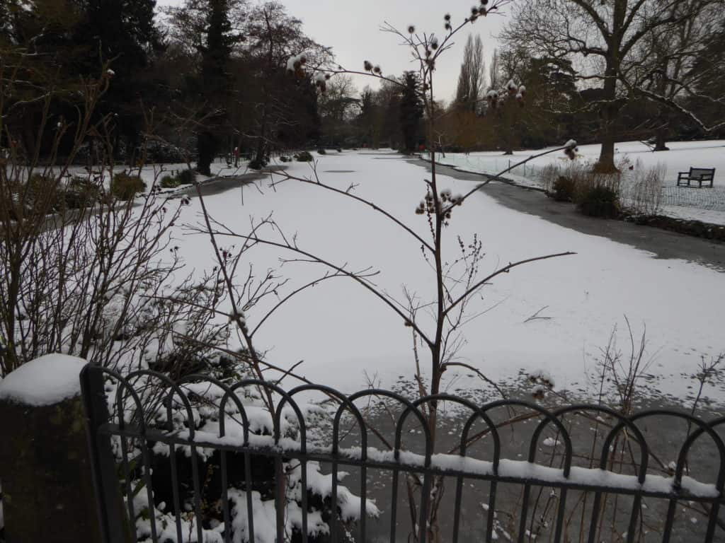 Chiswick House in the Snow